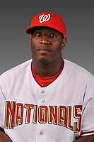 14 March 2008: ..Portrait of Dee Brown, Washington Nationals Minor League player at Spring Training Camp 2008..Mandatory Photo Credit: Ed Wolfstein Photo