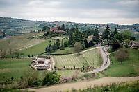 descending peloton<br /> <br /> 104th Giro d'Italia 2021 (2.UWT)<br /> Stage 3 from Biella to Canale (190km)<br /> <br /> ©kramon