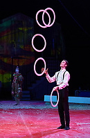 "Circus Flora 2017 ""Time flies"" show in St. Louis, Missouri on May 31, 2017."