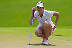 CHON BURI, THAILAND - FEBRUARY 20:  Paula Creamer of USA lines up a putt on the 4th green during day four of the LPGA Thailand at Siam Country Club on February 20, 2011 in Chon Buri, Thailand. Photo by Victor Fraile / The Power of Sport Images
