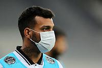 14th October 2020; Arena da Baixada, Curitiba, Brazil; Brazilian Serie A, Athletico Paranaense versus Corinthians;  Michel of Corinthians in mask due to pandemic