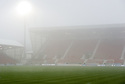 GENERAL VIEW OF EAST END PARK AT 13.27 AFTER REFEREE BOBBY MADDEN CALLED THE GAME OFF