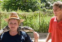 Cuba, Krokodilfarm  in La Boca auf der Halbinsel Zapata
