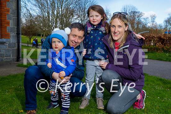 Enjoying a stroll in the Listowel town park on Sunday, l to r: Rory, Derek, Niamh and Emily Galvin.