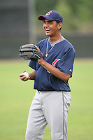 March 20th 2008:  Danny Salazar of the Cleveland Indians minor league system during Spring Training at Chain of Lakes Training Complex in Winter Haven, FL.  Photo by:  Mike Janes/Four Seam Images