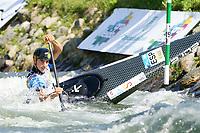 5th September 2021; Parc Olimpic del Segre, La Seu D'Urgell ICF Slalom World Cup, Men's Canoe Final;  winner of the final, Miquel Trave (ESP)