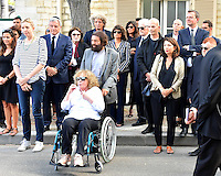 Marek HALTER et sa femme - Sidney TOLEDANO - Lionel JOSPIN et sa compagne Sylviane AGACINSKI - Elie CHOURAQUI - Emmanuelle ALT - Obseques Sonia Rykiel - Cimetiere du Montparnasse - Paris - FRANCE