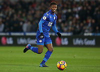 Demarai Gray of Leicester City prior to kick off of the Premier League match between Swansea City and Leicester City at The Liberty Stadium, Swansea, Wales, UK. Sunday 12 February 2017