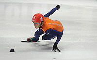 SHORTTRACK: DORDRECHT: Sportboulevard Dordrecht, 24-01-2015, ISU EK Shorttrack, Sjinkie KNEGT (NED   #51), ©foto Martin de Jong