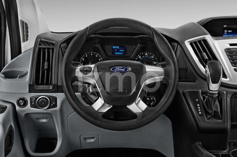 Car pictures of steering wheel view of a 2016 Ford Transit 150-XLT-Low-Roof 4 Door Passenger Van Steering Wheel