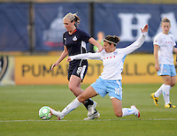Chicago Red Stars forward Carli Lloyd (10) defends the play against Washington Freedom midfielder Allie Long (9)  Washington Freedom tied Chicago Red Stars 1-1  at The Maryland SoccerPlex, Saturday April 11, 2009.