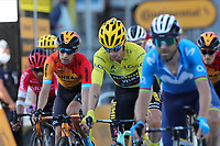 12th September 2020; Lyon, France;  TOUR DE FRANCE 2020- UCI Cycling World Tour during covid-19 pandemic. Stage 14 from Clermont-Ferrand to Lyon on the 12th of September. Primoz Roglic Slovenia Team Jumbo - Visma   wearing his yellow jersey