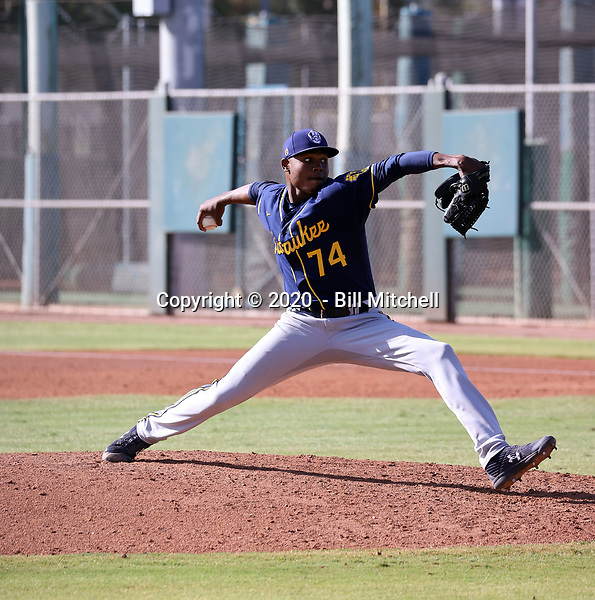 Edinson Mejia - 2020 AIL Brewers (Bill Mitchell)