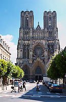 The cathedral in Reims, Reims, Champagne, Marne, Ardennes, France