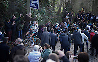 Michal Kwiatkowski (POL/SKY) up the crowded Taaienberg<br /> <br /> E3 - Harelbeke 2016