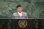 LOS general debate – 27 September<br /> <br /> PM<br /> <br /> His Excellency Sharma OLi Prime Minister of the Federal Democratic Republic of Nepal