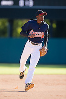 Jimmy Barnes (58) of Deep Creek High School in Chesapeake, Virginia playing for the Atlanta Braves scout team at the South Atlantic Border Battle at Doak Field on November 2, 2014.  (Brian Westerholt/Four Seam Images)