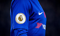 The Chelsea shirt with Champions 2016/17 Premier League badge, Nike swoosh & Poppy during the EPL - Premier League match between Chelsea and Manchester United at Stamford Bridge, London, England on 5 November 2017. Photo by Andy Rowland / PRiME Media Images.