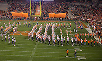 The eighth ranked Clemson Tigers defeat the Georgia Tech Yellow Jackets at Death Valley 55-31 in an ACC matchup.  Clemson Tigers prepare to enter the field.