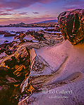 Dusk, Sandstone Formations, Salt Point State Park, Sonoma County, California