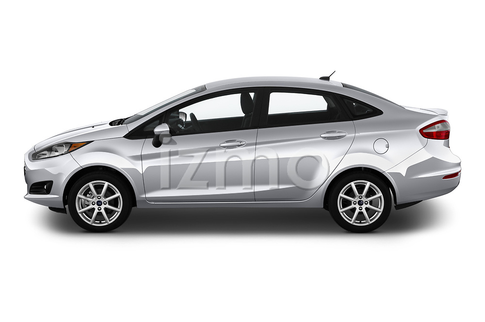 Car Driver side profile view of a 2019 Ford Fiesta SE 4 Door Sedan Side View