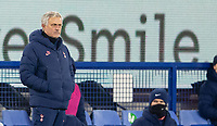 10th February 2021, Goodison Park, Liverpool, England;  Tottenham Hotspurs manager Jose Mourinho  during the FA Cup 5th round match between Everton FC and Tottenham Hotspur FC at Goodison Park