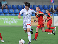 Belgium A - North Korea friendly game at Koksijde KVV Stadium - Belgie - Noord Korea : .Jon Myong Hwa.foto David Catry / Joke Vuylsteke / Vrouwenteam.be