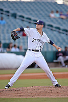 New Orleans Zephyrs pitcher Justin Nicolino (24) throws against the Albuquerque Isotopes in a game at Zephyr Field on May 28, 2015 in Metairie, Louisiana. (Derick E. Hingle/Four Seam Images)