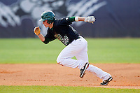 Nick Squires (20) of the Ohio Bobcats takes off for second base against the High Point Panthers at Willard Stadium on March 6, 2013 in High Point, North Carolina.  The Panthers defeated the Bobcats 4-1.  (Brian Westerholt/Four Seam Images)