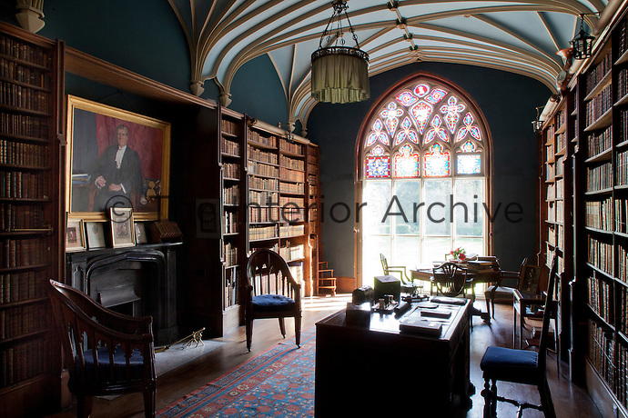 Inspired by Horace Walpole's Strawberry Hill, the library was built in the gothic revival style by Rev. Charles I Prideaux-Brune in 1799