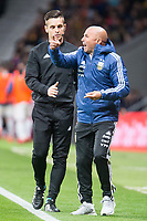 Argentina coach Jorge Sampaoli protesting to referee during friendly match between Spain and Argentina at Wanda Metropolitano in Madrid , Spain. March 27, 2018. (ALTERPHOTOS/Borja B.Hojas) /NortePhoto.com NORTEPHOTOMEXICO