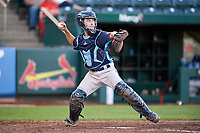 Corpus Christi Hooks catcher Garrett Stubbs (1) throws to second base during a game against the Springfield Cardinals on May 30, 2017 at Hammons Field in Springfield, Missouri.  Springfield defeated Corpus Christi 4-3.  (Mike Janes/Four Seam Images)