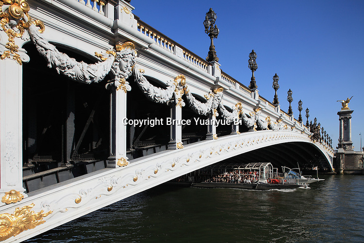 Pont Alexandre III Bridge over River Seine. City of Paris. Paris