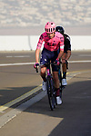 James Whelan (AUS) EF Education-Nippo and Nikias Arndt (GER) Team DSM on the final climb of Stage 3 of the 2021 UAE Tour running 166km from Al Ain to Jebel Hafeet, Abu Dhabi, UAE. 23rd February 2021.  <br /> Picture: Eoin Clarke | Cyclefile<br /> <br /> All photos usage must carry mandatory copyright credit (© Cyclefile | Eoin Clarke)