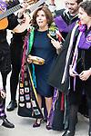"""Soraya Saenz de Santamaria with """"La Tuna"""" during award ceremony of literature in Spanish """"Miguel de Cervantes"""" at University of Alcala de Henares in Madrid., April 20, 2017. Spain.<br /> (ALTERPHOTOS/BorjaB.Hojas)"""
