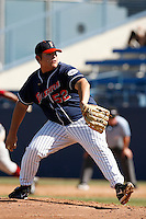 Sean Urena of the Cal State Fullerton Titans during a game against the Stanford Cardinal at Goodwin Field on February 4, 2007 in Fullerton, California. (Larry Goren/Four Seam Images)