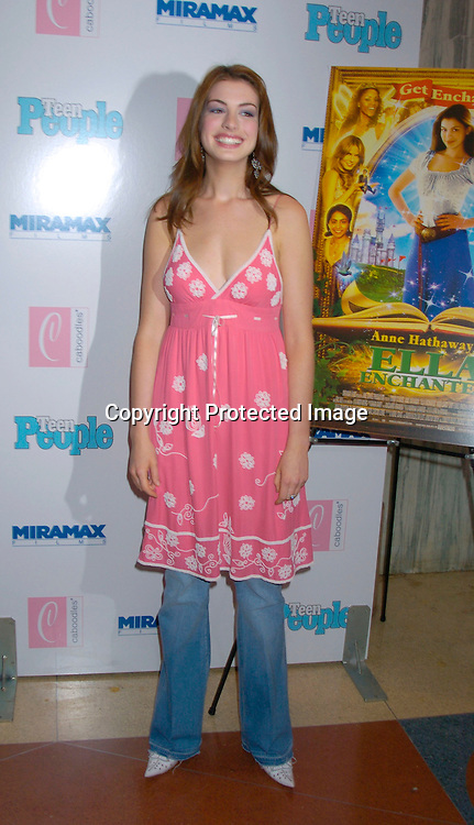 """Anne Hathaway ..at The Premiere of """"Ella Enchanted""""  on March 28, 2004 ..at the Clearview Beekman Theatre in New York City. ..Photo by Robin Platzer, Twin Images"""