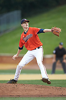 Virginia Cavaliers starting pitcher Noah Murdock (28) in action against the Wake Forest Demon Deacons at David F. Couch Ballpark on May 18, 2018 in  Winston-Salem, North Carolina.  The Cavaliers defeated the Demon Deacons 15-3.  (Brian Westerholt/Four Seam Images)
