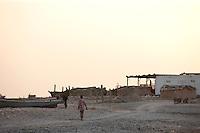 Fishing boats on a beach near Hadibu, Socotra, Yemen