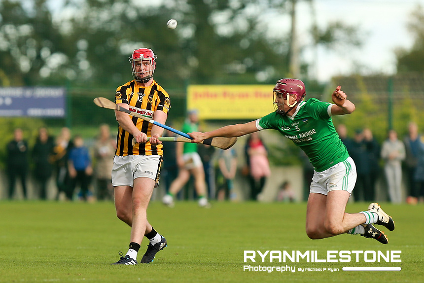 EVENT:<br /> Mid Tipperary Senior Hurling Final<br /> Upperchurch-Drombane vs Drom-Inch<br /> Sunday 29th September 2019,<br /> Littleton, Tipperary<br /> <br /> CAPTION:<br /> Paul Ryan of Upperchurch-Drombane in action against Liam Ryan of Drom-Inch<br /> <br /> Photo By: Michael P Ryan