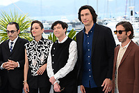 CANNES, FRANCE. July 6, 2021: Musician Ron Mael, actress Marion Cotillard, musician Russell Mael, actors Adam Driver & Simon Helberg at the photocall for Annette at the 74th Festival de Cannes.<br /> Picture: Paul Smith / Featureflash