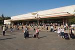 Venice Italy 2009. Train station exterior.