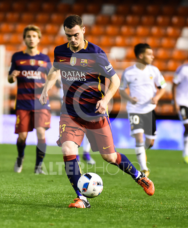 FC Barcelona's Thomas Vermaelen  during Spanish King's Cup match. February 10, 2016. (ALTERPHOTOS/Javier Comos)