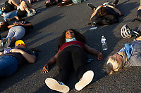 Demonstrators block Interstate 395 in Washington D.C., U.S., on Tuesday, June 23, 2020.  Trump tweeted that he authorized the Federal government to arrest any demonstrator caught vandalizing U.S. monuments, with a punishment of up to 10 years in prison.  Credit: Stefani Reynolds / CNP/AdMedia