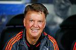 Belgie, Brugge, 26 augustus 2015<br /> Champions League play-offs<br /> Seizoen 2015-2016<br /> Club Brugge-Manchester United<br /> Louis van Gaal, trainer-coach van Manchester United kijkt vrolijk voor aanvang van de wedstrijd