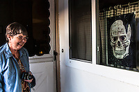 """Our Halloween Skull poster arrived today and got the official """"laugh-of-approval"""" from Sharon.  Buy your own poster for $9.96:   http://www.magcloud.com/browse/issue/483299?__r=188003"""