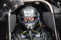 Jun. 17, 2011; Bristol, TN, USA: NHRA funny car driver Melanie Troxel during qualifying for the Thunder Valley Nationals at Bristol Dragway. Mandatory Credit: Mark J. Rebilas-