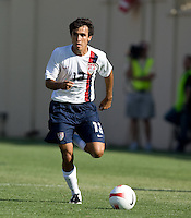 Jonathan Bornstein looks to cross. The USA defeated China, 4-1, in an international friendly at Spartan Stadium, San Jose, CA on June 2, 2007.