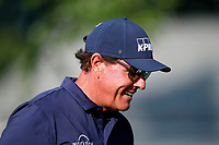 3rd July 2021, Detroit, MI, USA;  A silhouette of Phil Mickelson walks the 7th hole on July 3, 2021 during the Rocket Mortgage Classic at the Detroit Golf Club in Detroit, Michigan.