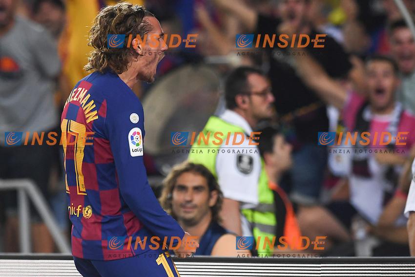 FOOTBALL: FC Barcelone vs Real Betis - La Liga-25/08/2019<br /> Antoine Griezmann (FCB) celebrates  <br /> 25/08/2019 <br /> Barcelona - Real Betis  <br /> Calcio La Liga 2019/2020  <br /> Photo Paco Largo/Panoramic/insidefoto